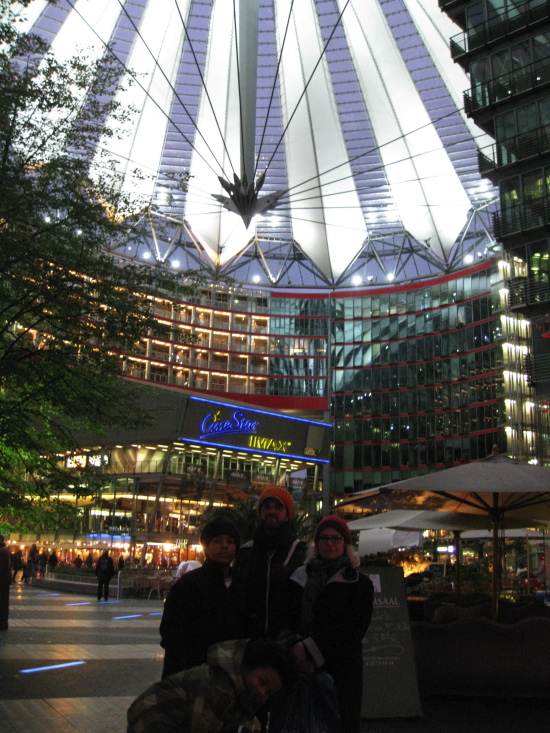 Sony Center på Potsdamer Platz