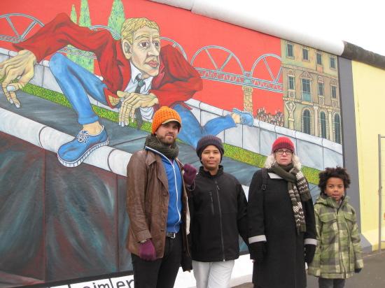 Et af de meget kendte malerier på muren