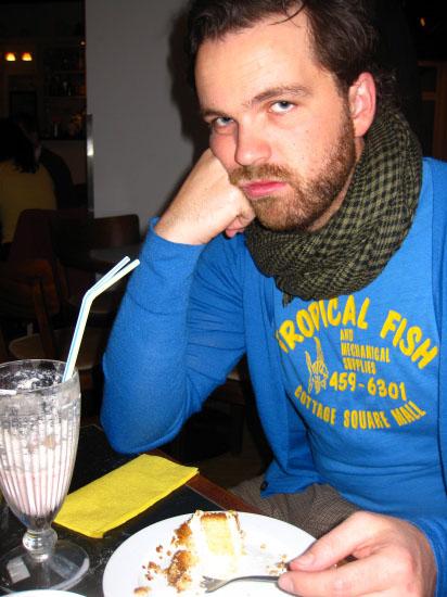 En ked Christian med hans tynde glas mælk