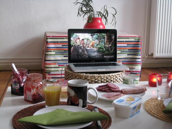 Hygge med morgenmad og Ice Age 3