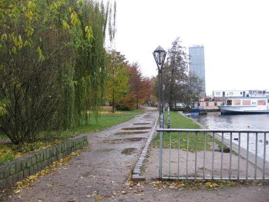 En våd dag i parken