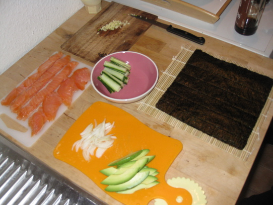 Sushi in-the-making