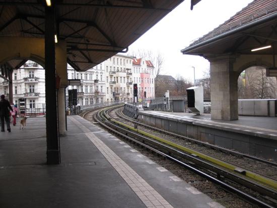 Ubahn ved vores lejlighed - Schlesisches Tor